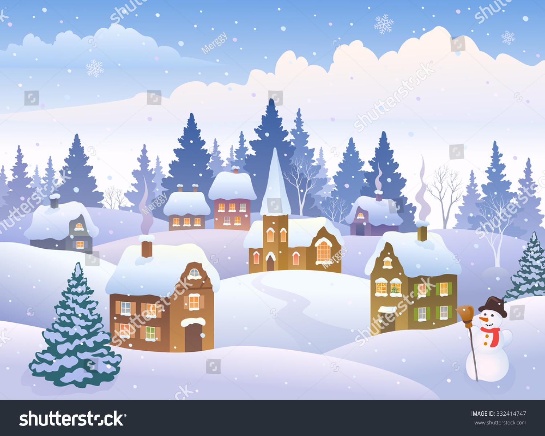snowy christmas scenery