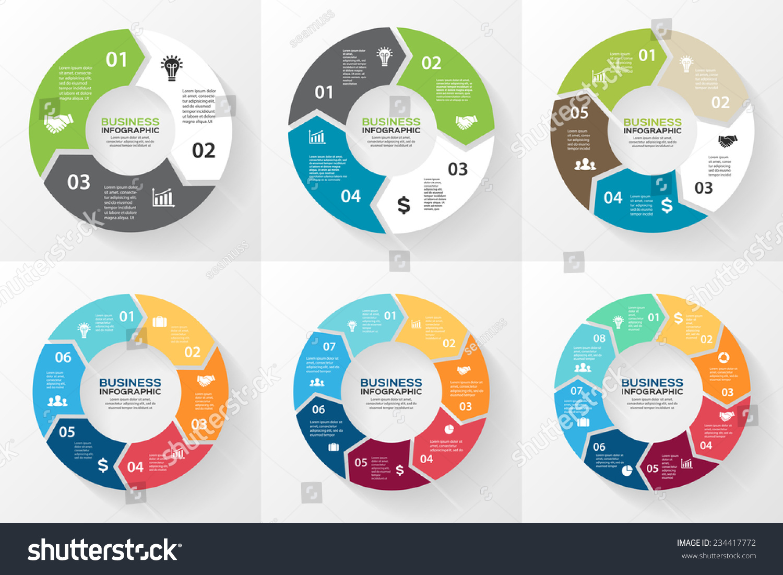 free circular arrow diagram template grundfos circulating pump wiring vector circle arrows infographic cycling stock