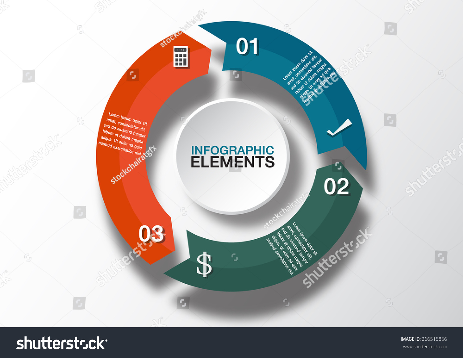 3 arrow circle diagram electric heat thermostat wiring vector arrows infographic template stock