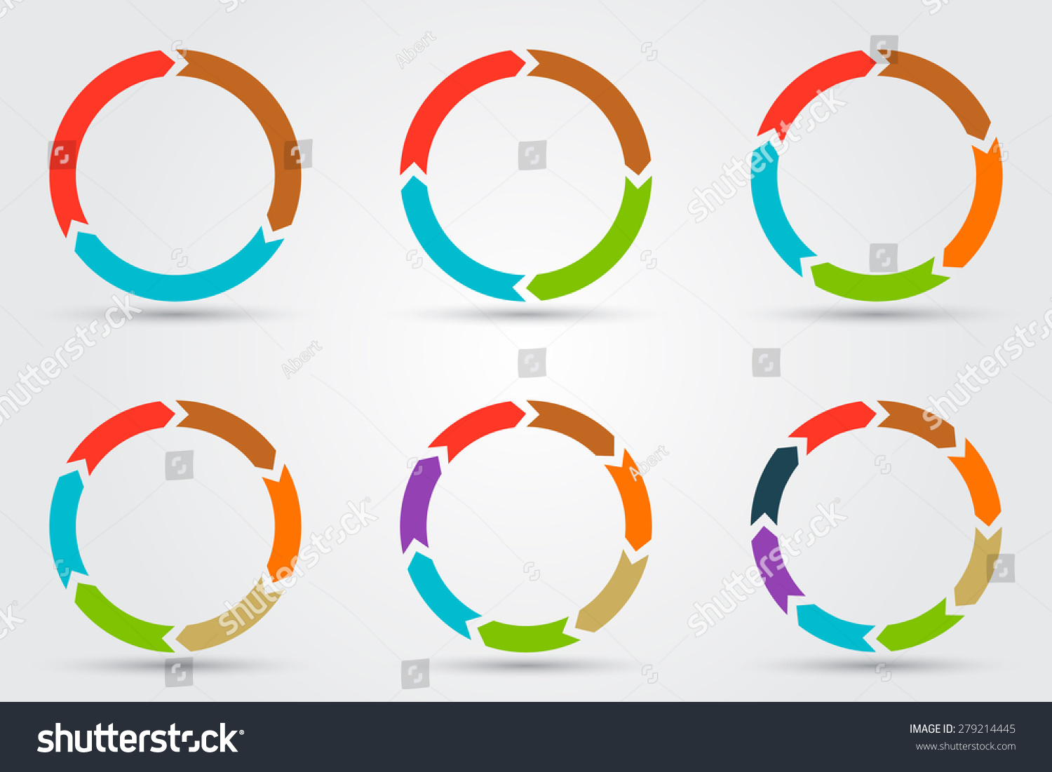 3 arrow circle diagram westinghouse automatic transfer switch wiring vector arrows infographic template stock