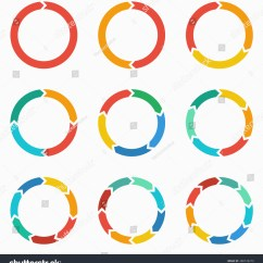 Free Circular Arrow Diagram Template Three Phase Motor Star Delta Wiring Vector Circle Arrows Infographic Stock