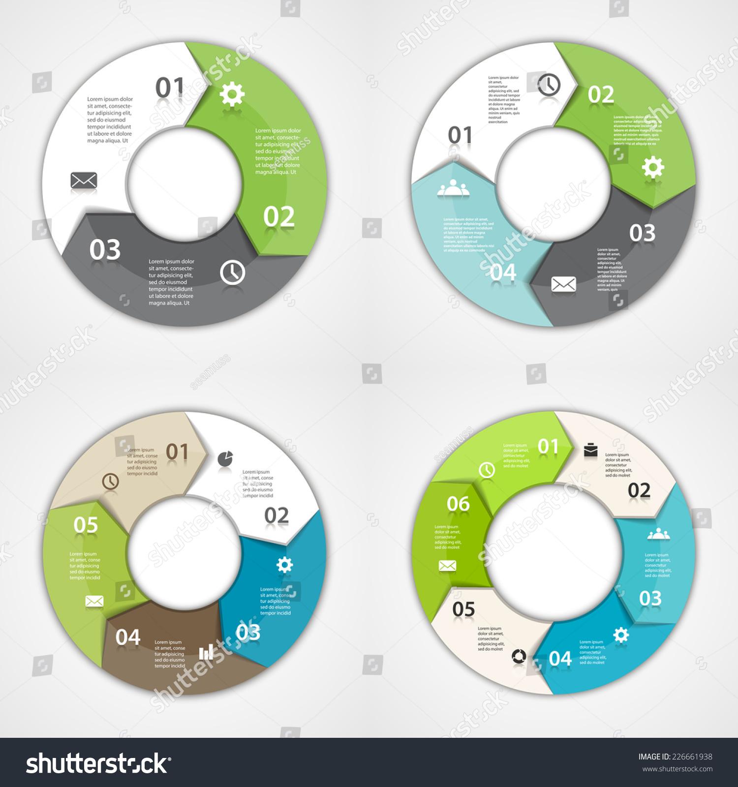 3 arrow circle diagram 2007 honda civic wiring vector arrows infographic template for