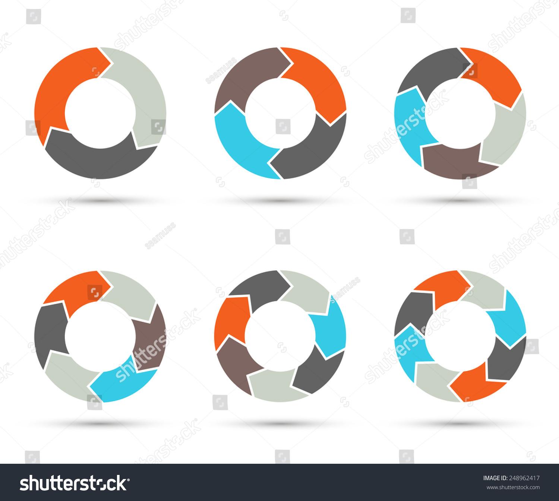 free circular arrow diagram template basic virus vector circle arrows set for infographic