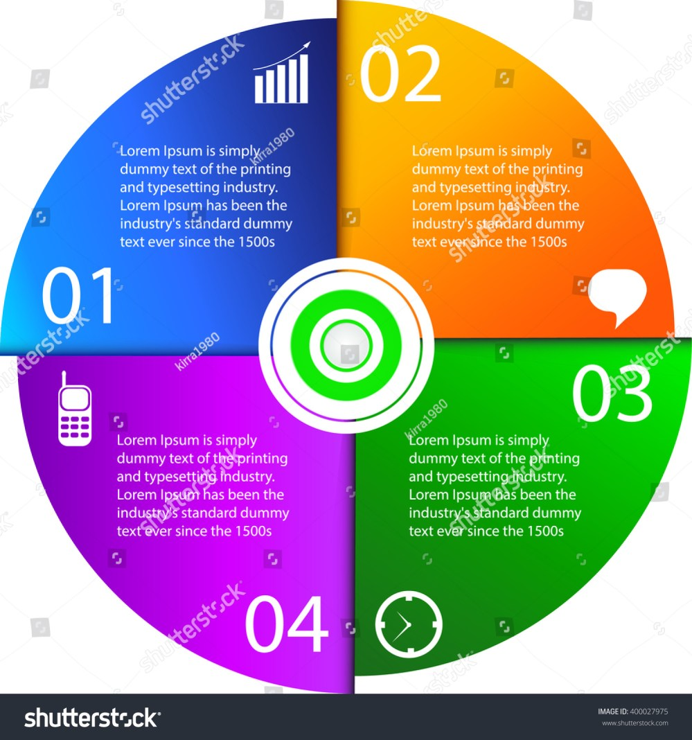 medium resolution of vector circle element with arrows for infographic template for cycle diagram graph presentation and round chart business concept with 4 parts