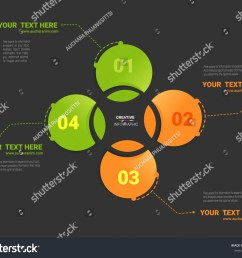 vector circle infographic template for cycle diagram graph presentation and round chart business concept with 4 options parts steps or processes  [ 1500 x 1266 Pixel ]