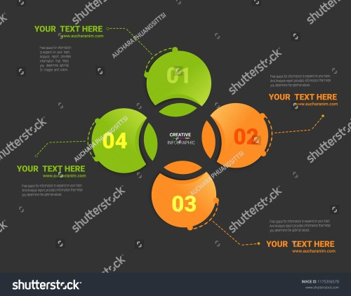 small resolution of vector circle infographic template for cycle diagram graph presentation and round chart business concept with 4 options parts steps or processes