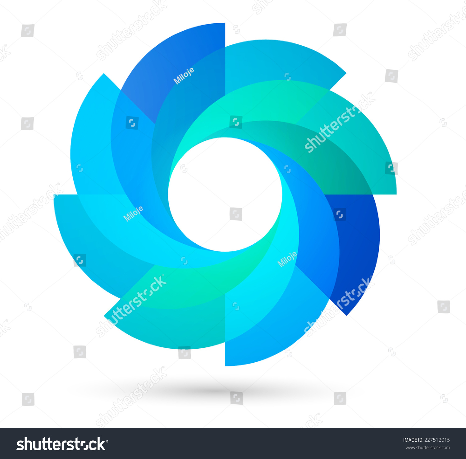 Vector Circle Logo Design Template Infinite Loop Shape