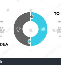 vector circle puzzle infographic cycle diagram graph presentation chart business infographics concept  [ 1500 x 945 Pixel ]