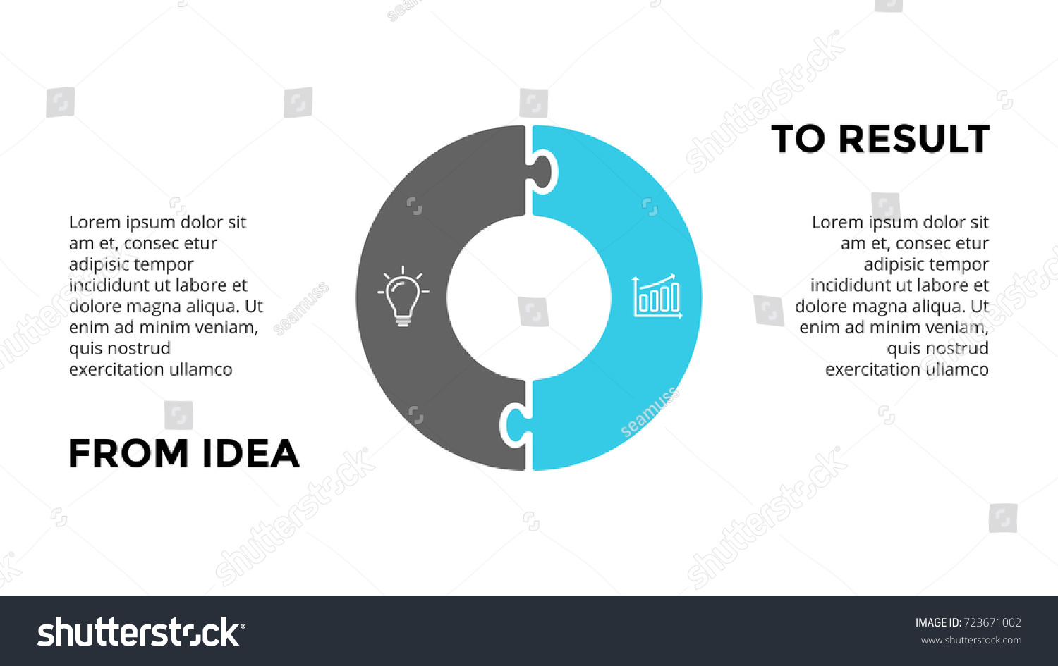 hight resolution of vector circle puzzle infographic cycle diagram graph presentation chart business infographics concept