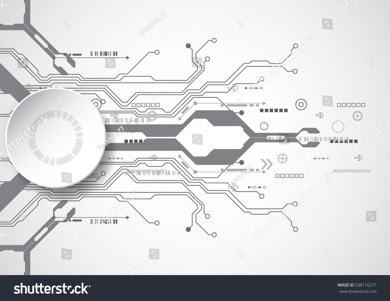 Vector Circuit Board Background Technology Illustration