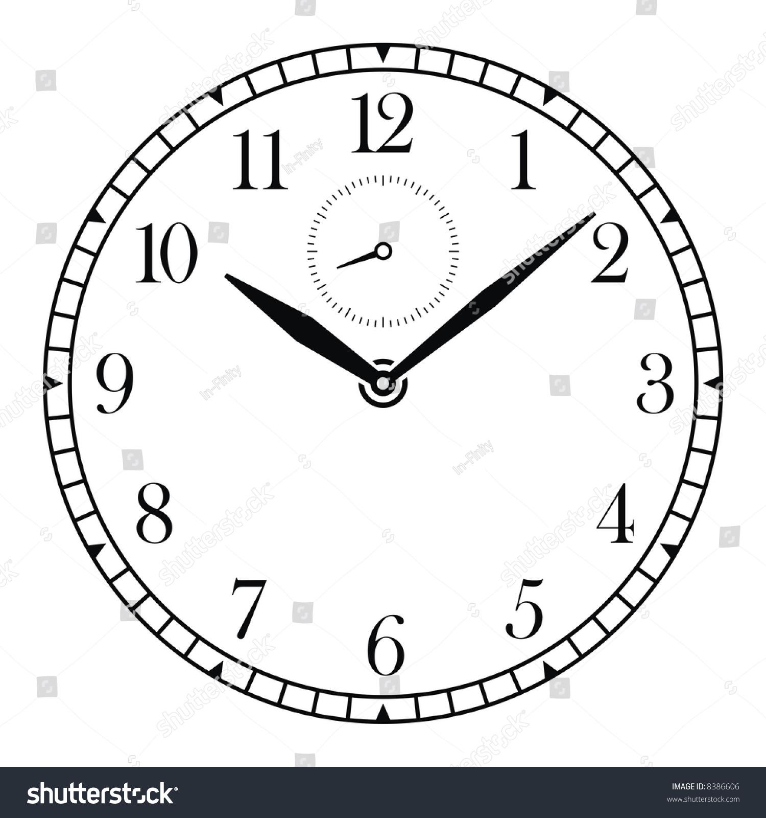 Vector Clock Face Hands Stock Vector