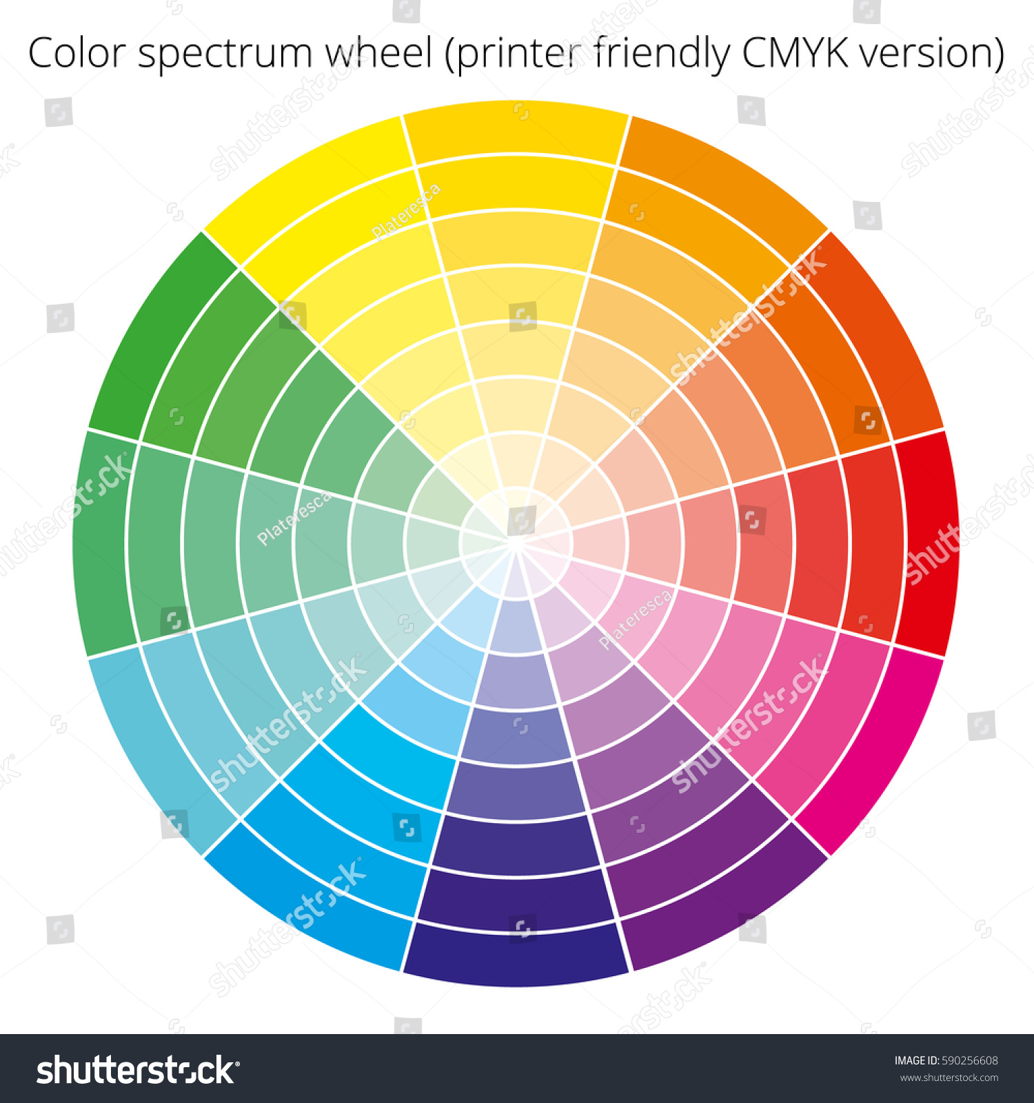 Vector Color Spectrum Itten 12color Wheel Stock Vector