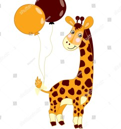 vector cute baby giraffe with balloons on white background giraffe clipart giraffe vector illustration [ 1286 x 1600 Pixel ]