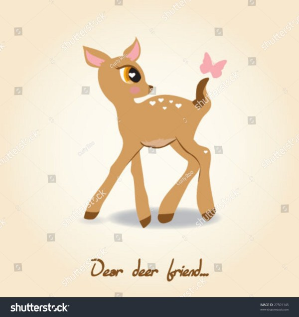 Vector Cute Deer Stock 27501145 - Shutterstock