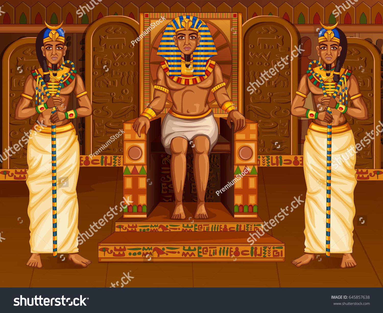 Vector Design Egyptian Civilization King Pharaoh Stock