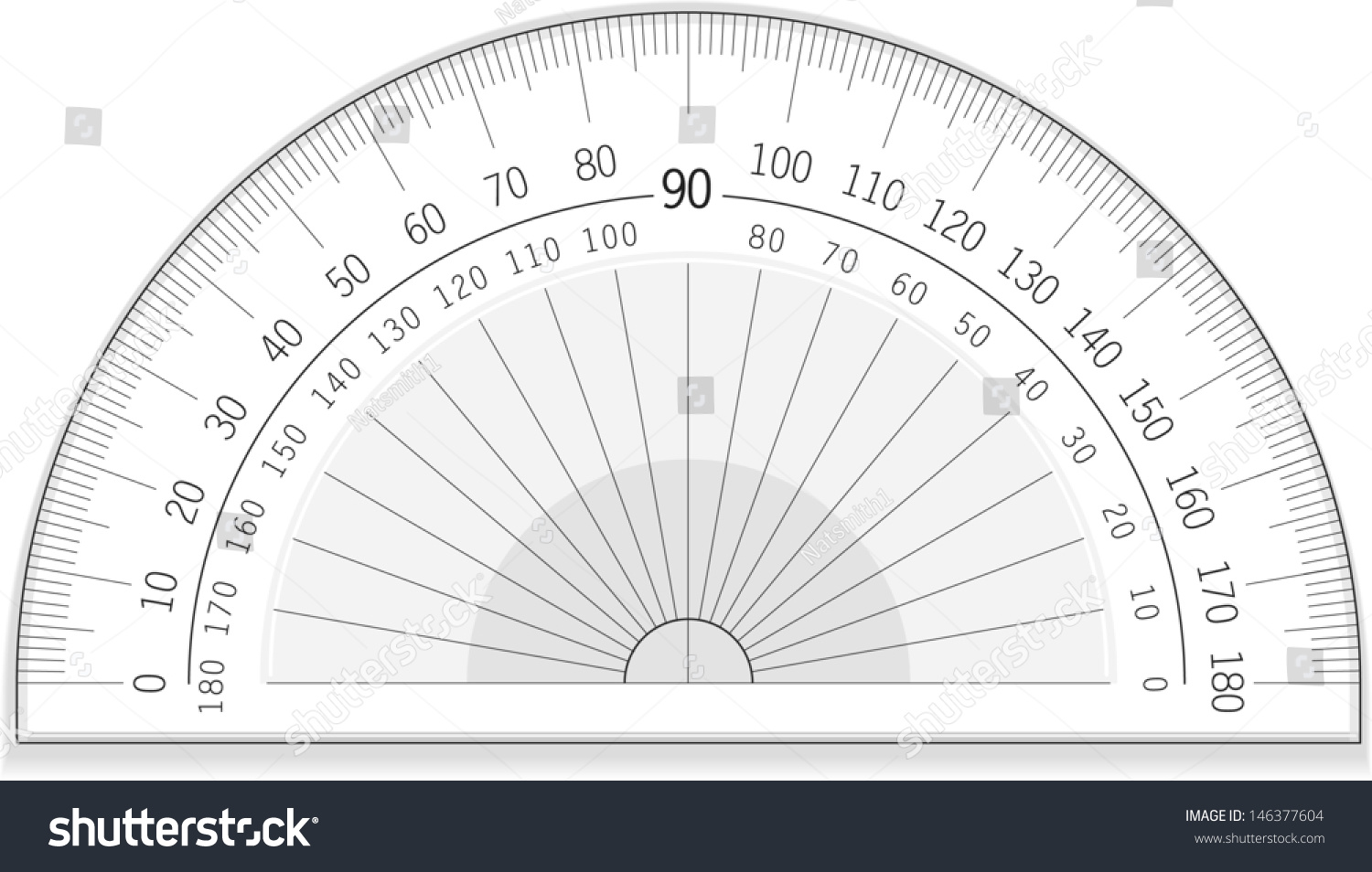 Vector Drawing Of An Accurate Protractor Protractor Great