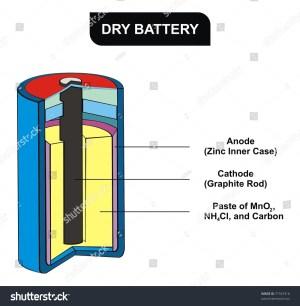 Vector Dry Battery Diagram Stock Vector 71553316