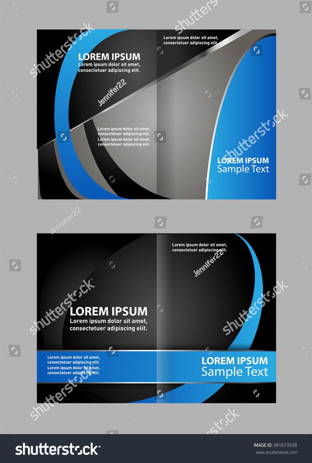 Vector Empty Bi-Fold Brochure Print Template Design, Newsletter Booklet  Layout