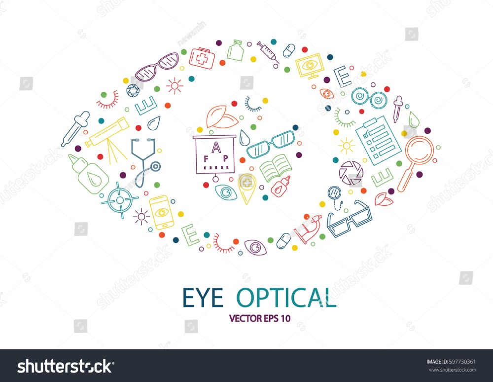 medium resolution of vector eye icons are arranged in logo look like eye shape isolate on white background