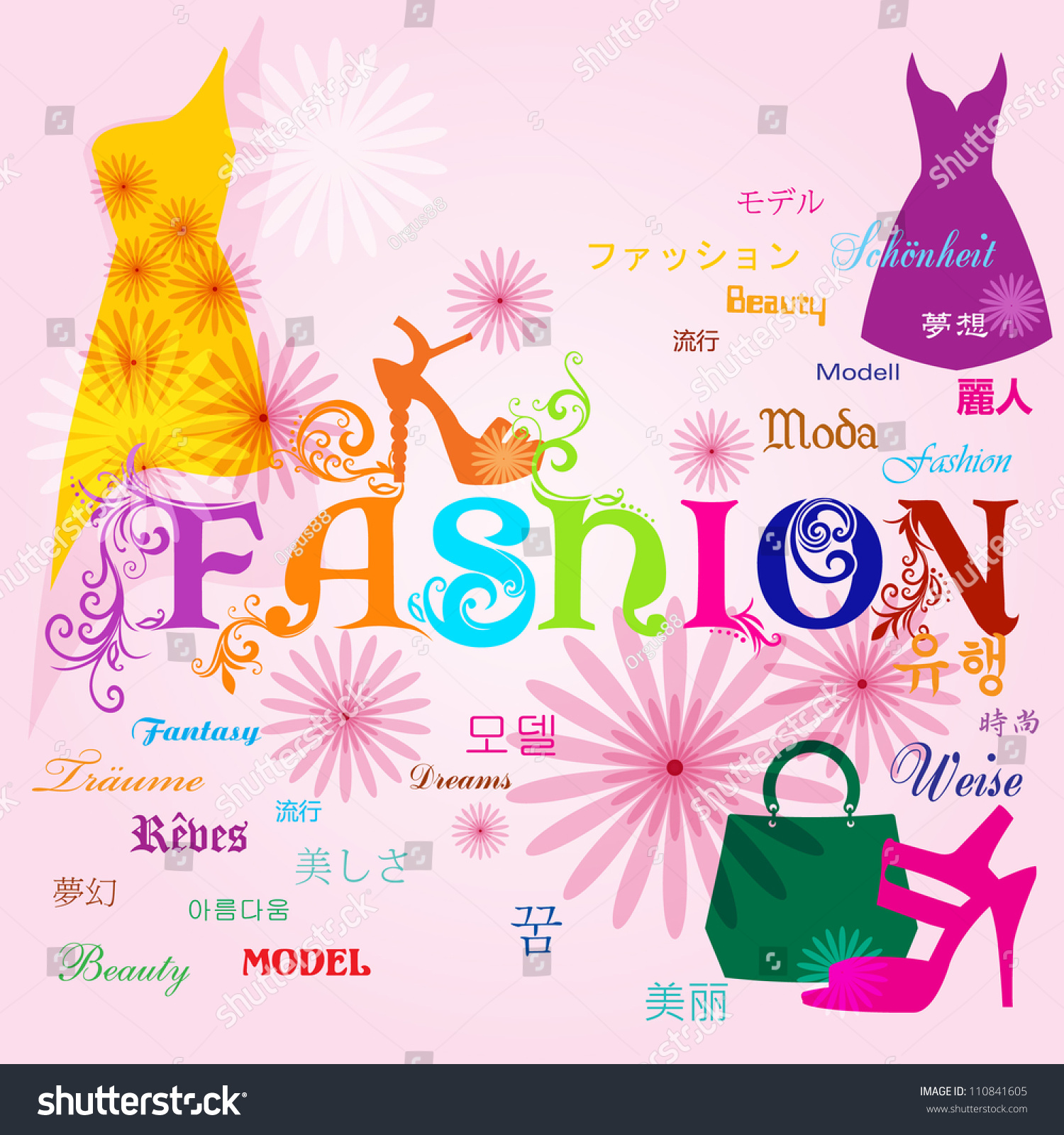 Vector Fashion Background Fashion Typography Design Stock Vector 110841605  Shutterstock