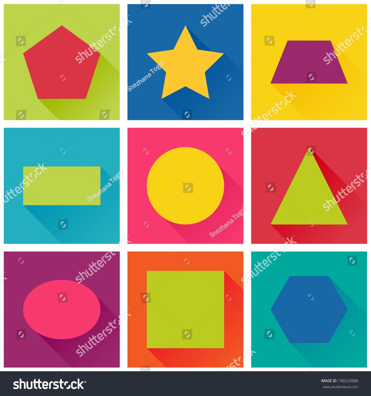 Vector Flat Design Concept For Children S Apps Set Of
