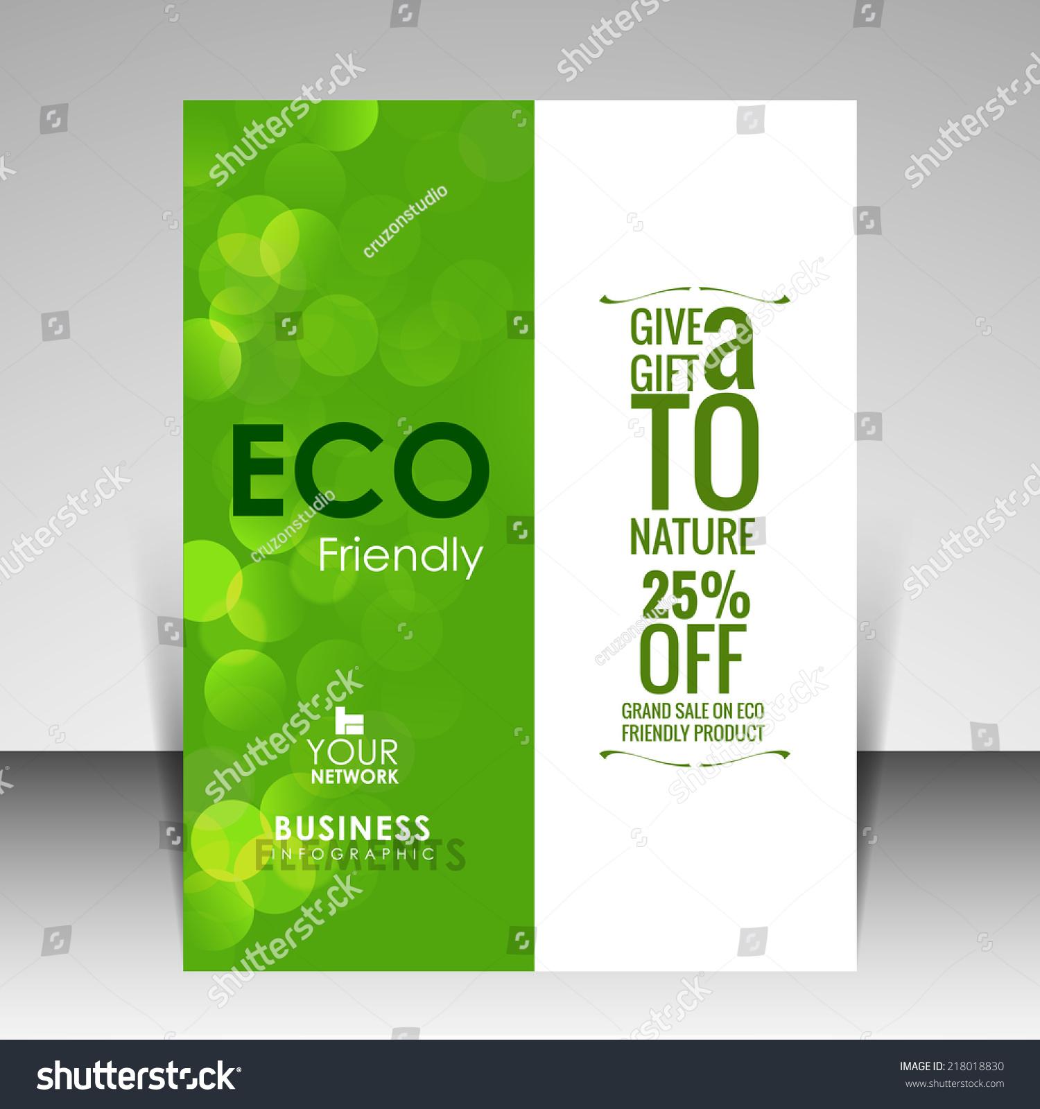 Vector Flyer Design Eco Friendly Stock Vector 218018830 - Shutterstock