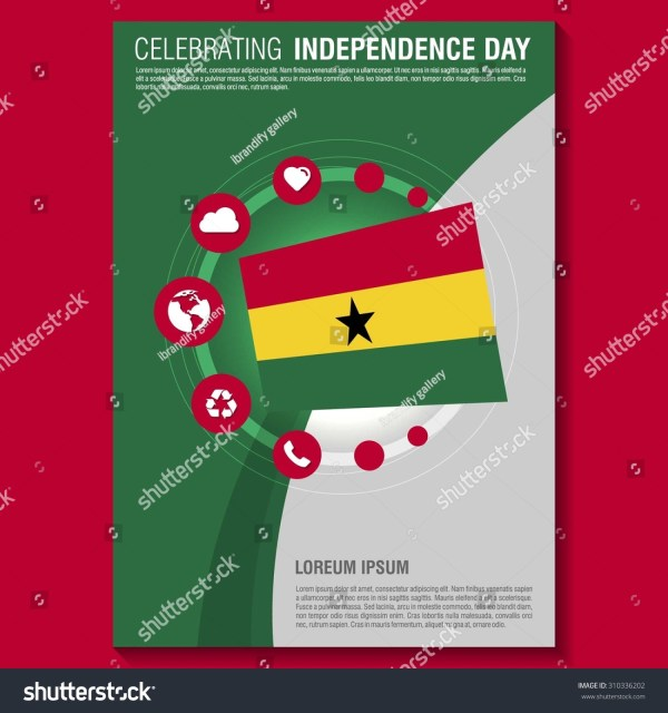 Vector Ghana Independence Day Flyer Template. Creative