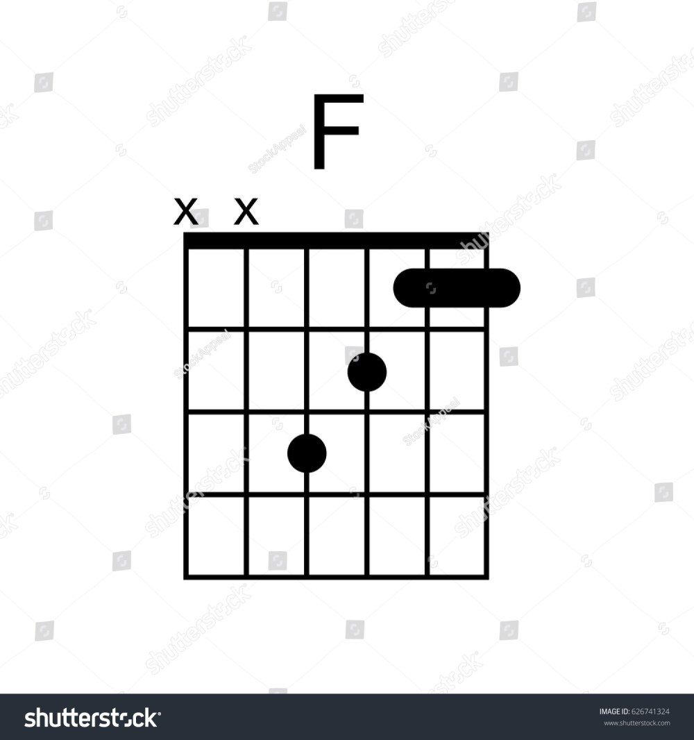 medium resolution of vector guitar chord f chord diagram tab tabulation tablature finger chart