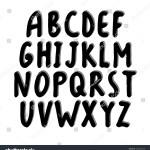Vector Hand Drawn Black Bold Font Stock Vector Royalty Free 1063041938