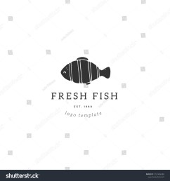vector hand drawn logo template tropical fish illustration for badges labels logotypes [ 1500 x 1600 Pixel ]