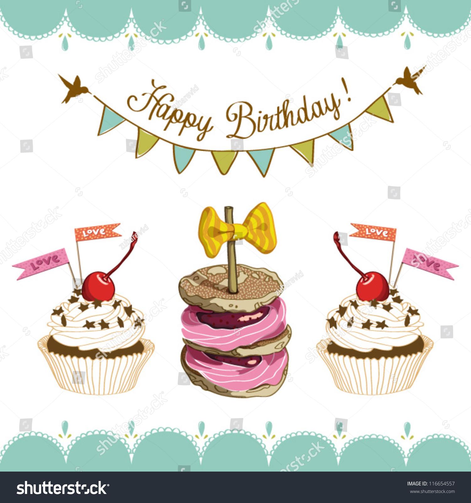 Birthday Card Cake Happy