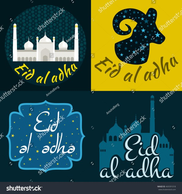 Vector Holiday Named Eid Al Adha Stock Vector 469391018