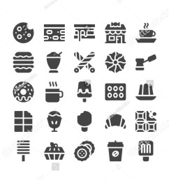 vector icons pack of 25 filled chocolate icons simple modern icons about cookie  [ 900 x 1600 Pixel ]