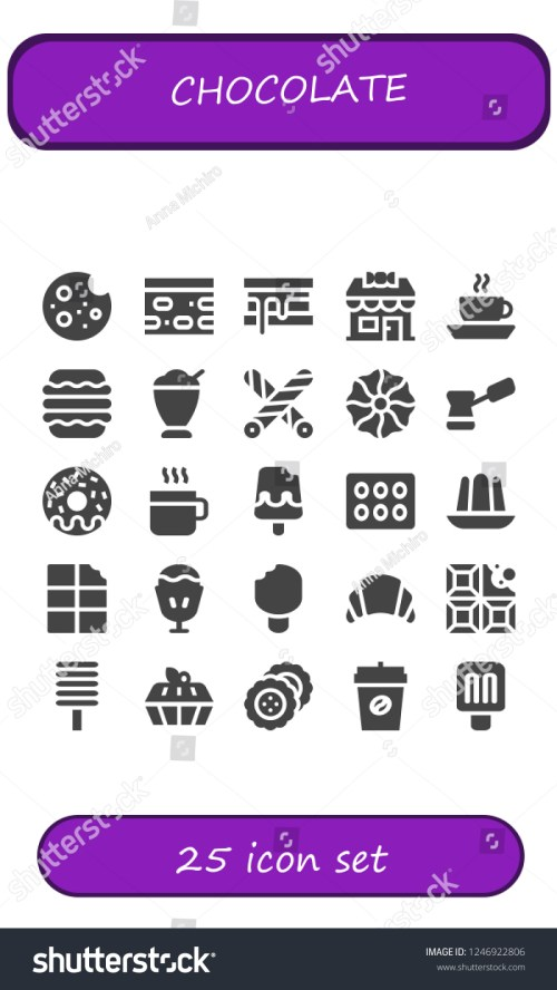 small resolution of vector icons pack of 25 filled chocolate icons simple modern icons about cookie