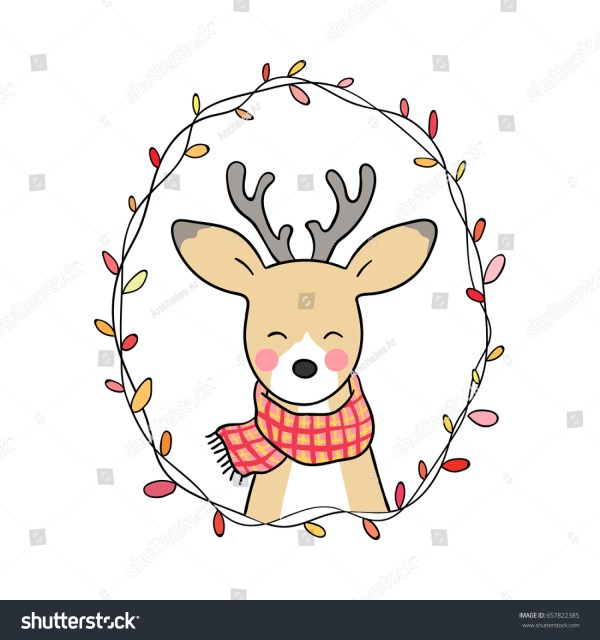 Vector Illustration Character Design Cute Deer Stock 657822385 - Shutterstock