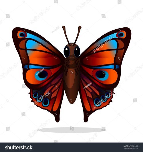 small resolution of vector illustration fantastic butterfly clipart isolated on white background eps 10