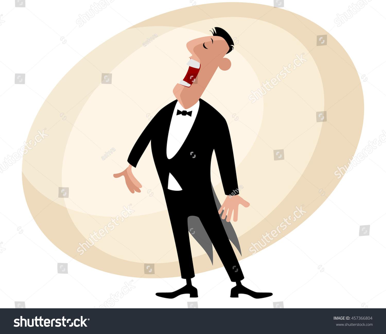 hight resolution of vector illustration of a popular opera singer