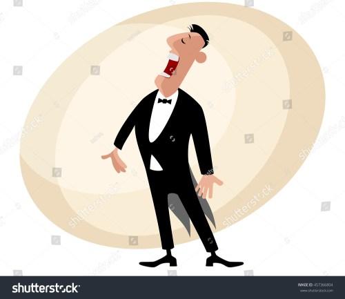 small resolution of vector illustration of a popular opera singer