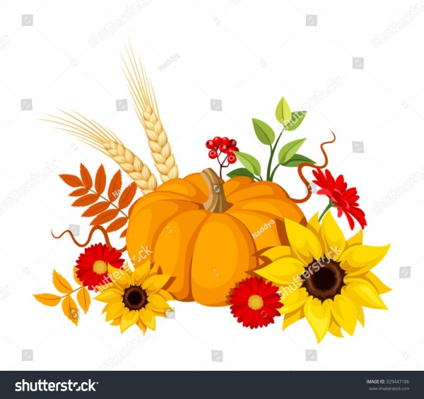 fall sunflower clip art