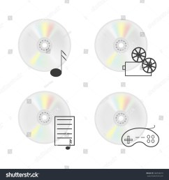 vector illustration of cd disk compact disc isolated on a white background vector icons [ 1500 x 1600 Pixel ]