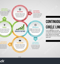 vector illustration of continuous circle lines infographic design element  [ 1500 x 1014 Pixel ]