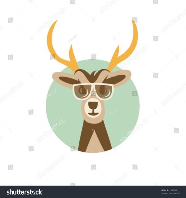 Deer with Sunglasses Illustration