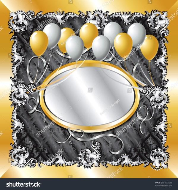 vector illustration gold silver