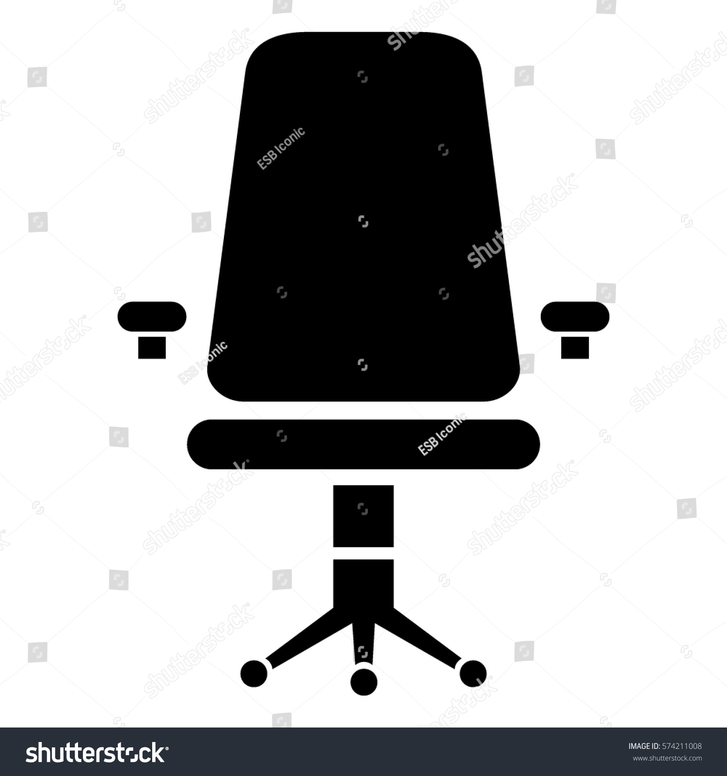 office chair illustration lounge legs vector icon black stock