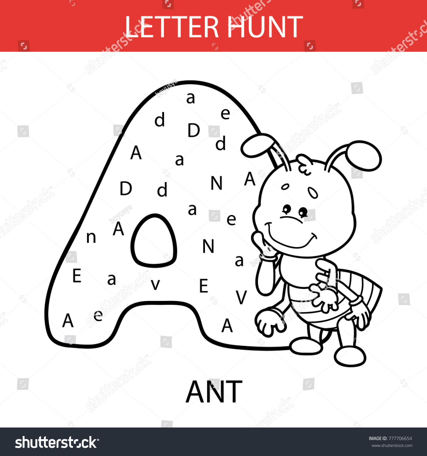 Preschool Worksheet Letter A