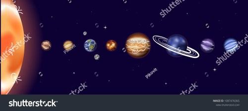 small resolution of vector illustration of solar system with sun mercury venus earth moon
