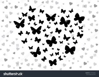 butterfly heart butterflies vector illustration form shutterstock vectors footage illustrations music