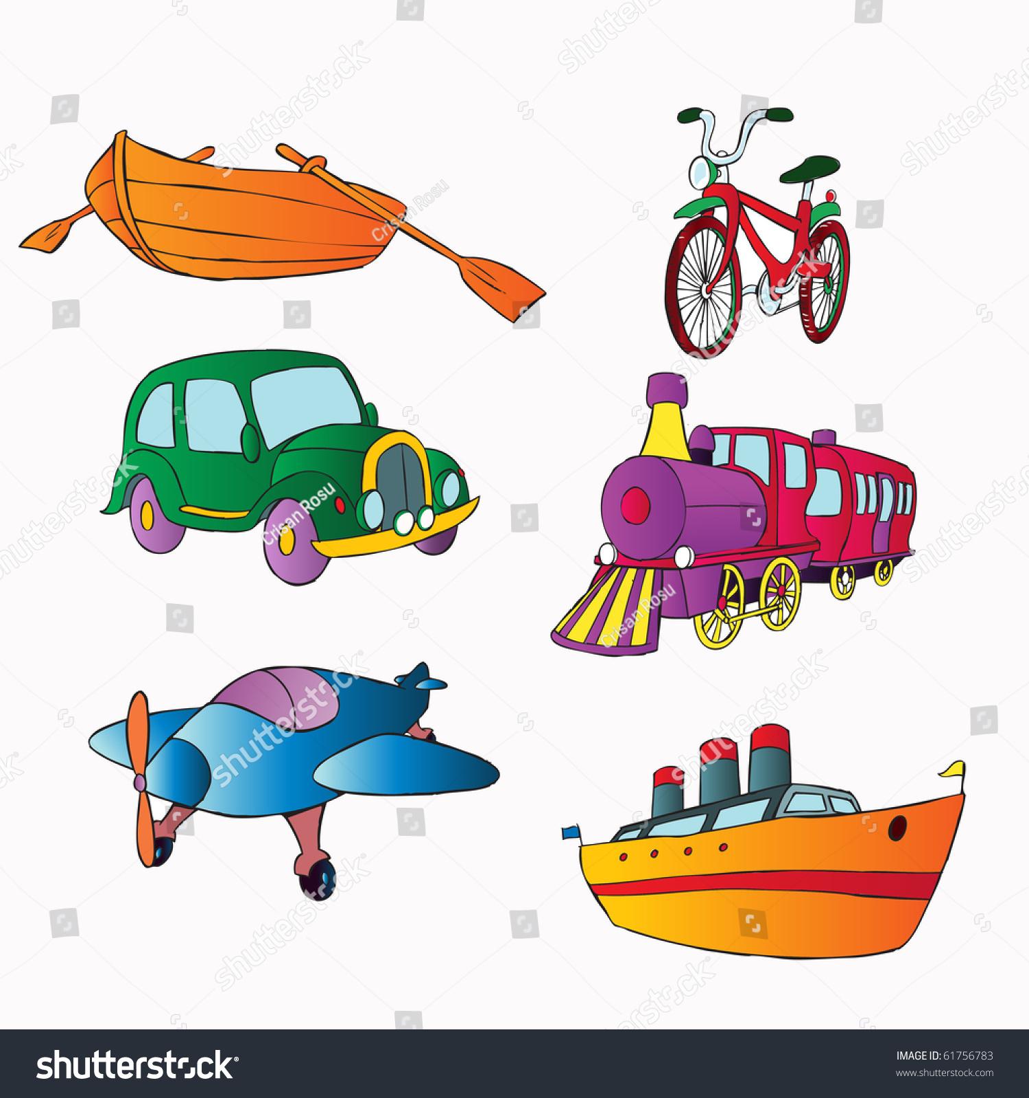 Vector Illustration Transportation Cartoon Concept