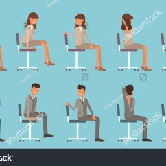 Chair Exercises At Work Cheap Covers Walmart Vector Illustration Office Yoga Businessman Stock