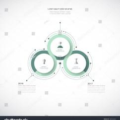 3 Arrow Circle Diagram Craftsman Garage Door Opener Sensor Wiring Vector Infographic 3d Label Design Stock